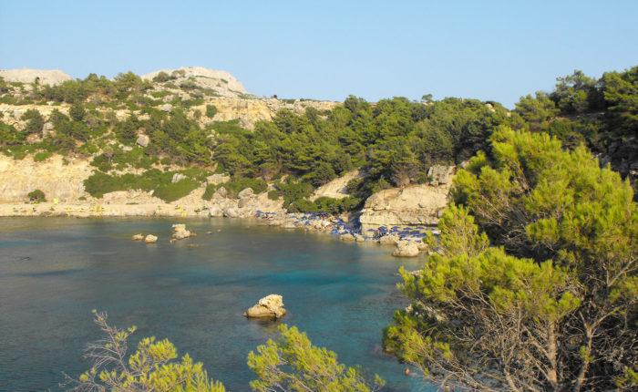 Le più belle spiagge di Rodi Baia di Anthony Quinn