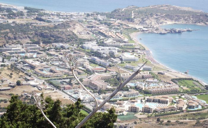 Il panorama da Tzampika